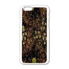 Wallpaper With Fractal Small Flowers Apple Iphone 6/6s White Enamel Case by BangZart