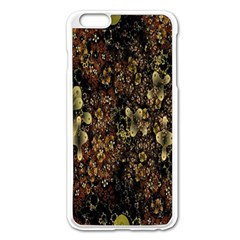 Wallpaper With Fractal Small Flowers Apple Iphone 6 Plus/6s Plus Enamel White Case by BangZart