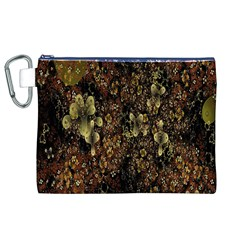 Wallpaper With Fractal Small Flowers Canvas Cosmetic Bag (xl) by BangZart