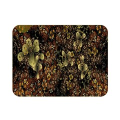 Wallpaper With Fractal Small Flowers Double Sided Flano Blanket (mini)  by BangZart