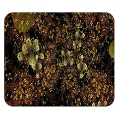 Wallpaper With Fractal Small Flowers Double Sided Flano Blanket (small)