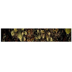 Wallpaper With Fractal Small Flowers Flano Scarf (large) by BangZart
