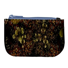 Wallpaper With Fractal Small Flowers Large Coin Purse
