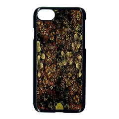 Wallpaper With Fractal Small Flowers Apple Iphone 7 Seamless Case (black) by BangZart