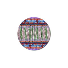 Nature Pattern Background Wallpaper Of Leaves And Flowers Abstract Style Golf Ball Marker by BangZart
