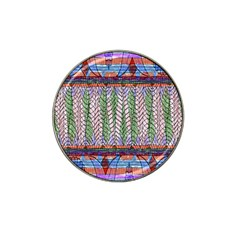 Nature Pattern Background Wallpaper Of Leaves And Flowers Abstract Style Hat Clip Ball Marker by BangZart
