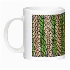 Nature Pattern Background Wallpaper Of Leaves And Flowers Abstract Style Night Luminous Mugs by BangZart