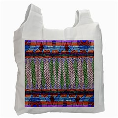 Nature Pattern Background Wallpaper Of Leaves And Flowers Abstract Style Recycle Bag (one Side)