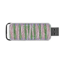 Nature Pattern Background Wallpaper Of Leaves And Flowers Abstract Style Portable Usb Flash (two Sides) by BangZart