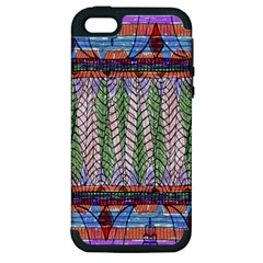 Nature Pattern Background Wallpaper Of Leaves And Flowers Abstract Style Apple Iphone 5 Hardshell Case (pc+silicone)