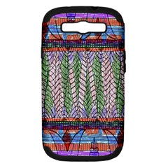 Nature Pattern Background Wallpaper Of Leaves And Flowers Abstract Style Samsung Galaxy S Iii Hardshell Case (pc+silicone) by BangZart