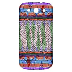 Nature Pattern Background Wallpaper Of Leaves And Flowers Abstract Style Samsung Galaxy S3 S Iii Classic Hardshell Back Case
