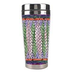 Nature Pattern Background Wallpaper Of Leaves And Flowers Abstract Style Stainless Steel Travel Tumblers by BangZart
