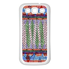 Nature Pattern Background Wallpaper Of Leaves And Flowers Abstract Style Samsung Galaxy S3 Back Case (white) by BangZart