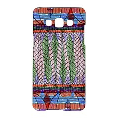 Nature Pattern Background Wallpaper Of Leaves And Flowers Abstract Style Samsung Galaxy A5 Hardshell Case  by BangZart