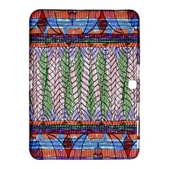 Nature Pattern Background Wallpaper Of Leaves And Flowers Abstract Style Samsung Galaxy Tab 4 (10 1 ) Hardshell Case