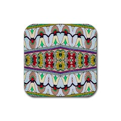 Kaleidoscope Background  Wallpaper Rubber Coaster (square)