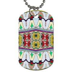 Kaleidoscope Background  Wallpaper Dog Tag (two Sides)