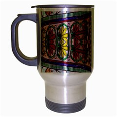 Kaleidoscope Background  Wallpaper Travel Mug (silver Gray) by BangZart