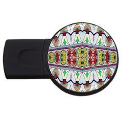 Kaleidoscope Background  Wallpaper Usb Flash Drive Round (4 Gb) by BangZart