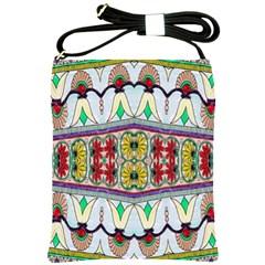 Kaleidoscope Background  Wallpaper Shoulder Sling Bags by BangZart