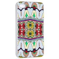 Kaleidoscope Background  Wallpaper Apple Iphone 4/4s Seamless Case (white)