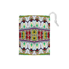 Kaleidoscope Background  Wallpaper Drawstring Pouches (small)  by BangZart