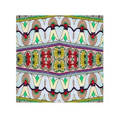 Kaleidoscope Background  Wallpaper Small Satin Scarf (square) by BangZart