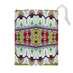 Kaleidoscope Background  Wallpaper Drawstring Pouches (extra Large)