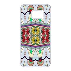 Kaleidoscope Background  Wallpaper Samsung Galaxy S7 Edge White Seamless Case by BangZart