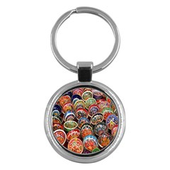 Colorful Oriental Bowls On Local Market In Turkey Key Chains (round)  by BangZart