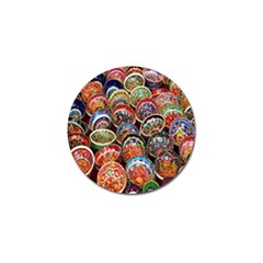 Colorful Oriental Bowls On Local Market In Turkey Golf Ball Marker by BangZart