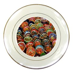 Colorful Oriental Bowls On Local Market In Turkey Porcelain Plates by BangZart