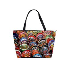 Colorful Oriental Bowls On Local Market In Turkey Shoulder Handbags by BangZart