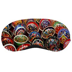 Colorful Oriental Bowls On Local Market In Turkey Sleeping Masks