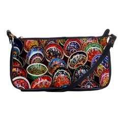 Colorful Oriental Bowls On Local Market In Turkey Shoulder Clutch Bags by BangZart