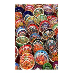 Colorful Oriental Bowls On Local Market In Turkey Shower Curtain 48  X 72  (small)  by BangZart