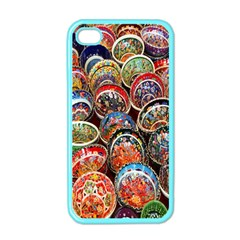 Colorful Oriental Bowls On Local Market In Turkey Apple Iphone 4 Case (color) by BangZart