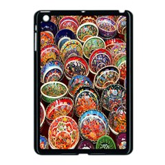 Colorful Oriental Bowls On Local Market In Turkey Apple Ipad Mini Case (black) by BangZart