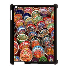 Colorful Oriental Bowls On Local Market In Turkey Apple Ipad 3/4 Case (black) by BangZart