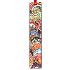 Colorful Oriental Bowls On Local Market In Turkey Large Book Marks by BangZart