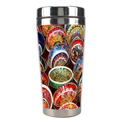 Colorful Oriental Bowls On Local Market In Turkey Stainless Steel Travel Tumblers
