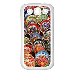 Colorful Oriental Bowls On Local Market In Turkey Samsung Galaxy S3 Back Case (white) by BangZart