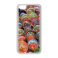Colorful Oriental Bowls On Local Market In Turkey Apple Iphone 5c Seamless Case (white) by BangZart