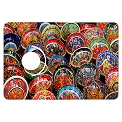 Colorful Oriental Bowls On Local Market In Turkey Kindle Fire Hdx Flip 360 Case by BangZart