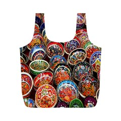 Colorful Oriental Bowls On Local Market In Turkey Full Print Recycle Bags (m)  by BangZart