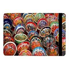 Colorful Oriental Bowls On Local Market In Turkey Samsung Galaxy Tab Pro 10 1  Flip Case by BangZart