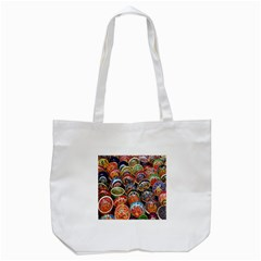 Colorful Oriental Bowls On Local Market In Turkey Tote Bag (white) by BangZart