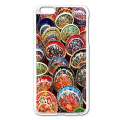 Colorful Oriental Bowls On Local Market In Turkey Apple Iphone 6 Plus/6s Plus Enamel White Case by BangZart