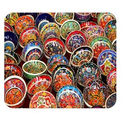 Colorful Oriental Bowls On Local Market In Turkey Double Sided Flano Blanket (small)
